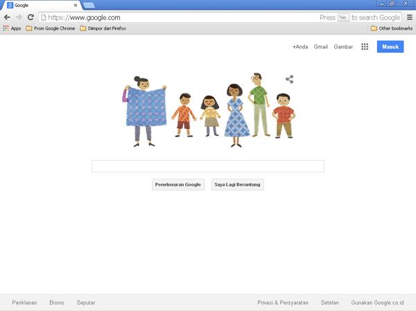 Batik National Day 2014 Google Doodle